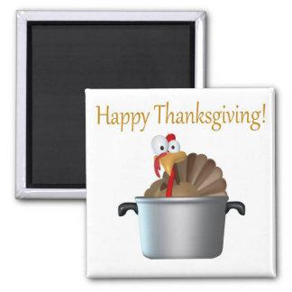 Funny Turkey, Happy Thanksgiving Day Fridge Magnets