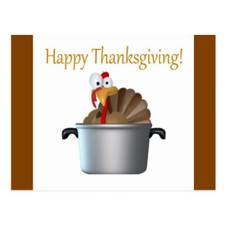 Funny Turkey, Happy Thanksgiving Day Post Card
