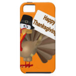 Funny Turkey saying :''Happy Thanksgiving!'' iPhone 5 Covers