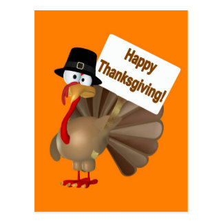 Funny Turkey saying ''Happy Thanksgiving!'' Postcard