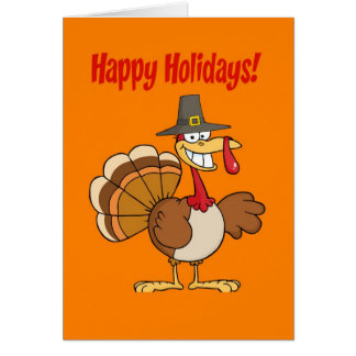 Funny Turkey Thanksgiving Card