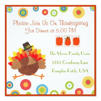 Funny Turkey Thanksgiving Dinner - Invitation