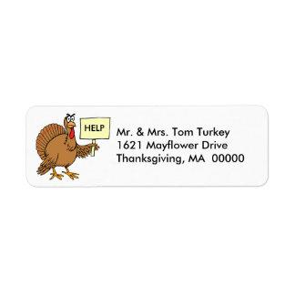 Funny Turkey Thanksgiving Return Address Stickers Return Address Label