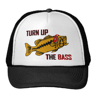 Funny TURN UP THE BASS design Cap
