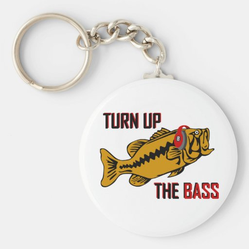 Funny TURN UP THE BASS design Key Chain