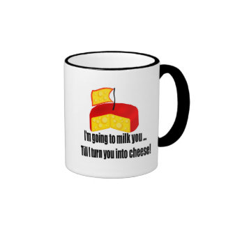 Funny Turn You To Cheese T-shirts Gifts Ringer Mug