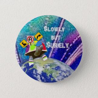 Funny turtle 6 cm round badge