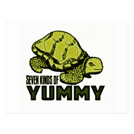 Funny Turtle Eater Postcard