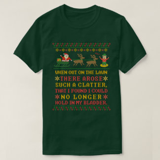 Funny Twas the Night Before Christmas Humorous T-Shirt