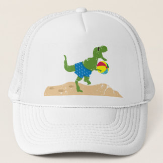 Funny tyrannosaurus rex dinosaur summer beach ball trucker hat