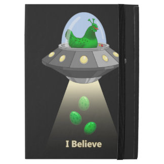 Funny UFO Green Chicken Egg Alien Abduction