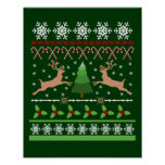 Funny Ugly Christmas Sweater Poster