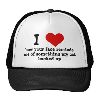 Funny ugly face insult mesh hats