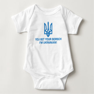 Funny Ukrainian Borsch Baby Bodysuit