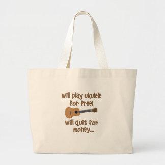 Funny Ukulele Jumbo Tote Bag