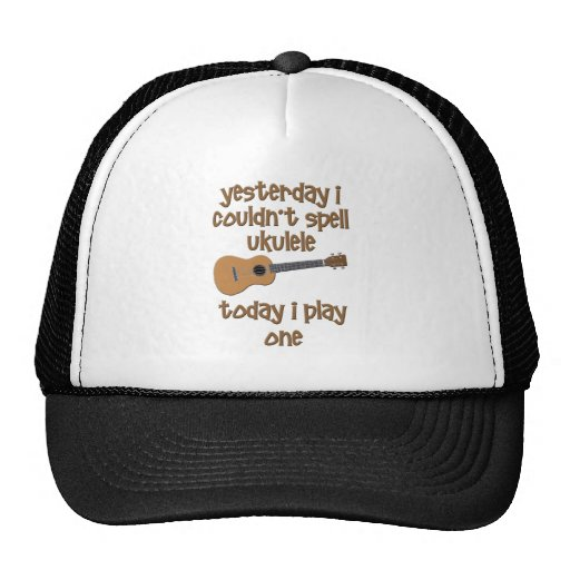funny ukulele uke mesh hat