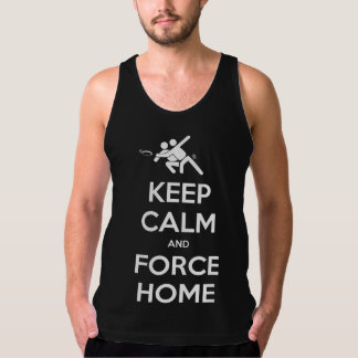 Funny Ultimate Frisbee- Keep Calm and Force Home Singlet