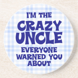 Funny Uncle Gift Beverage Coasters