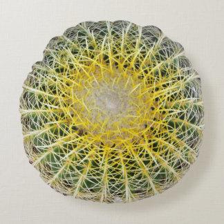 Funny Uncomfortable Botanical Globe Cactus Round Cushion