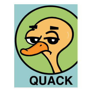 FUNNY UNENTHUSED DUCK POSTCARD