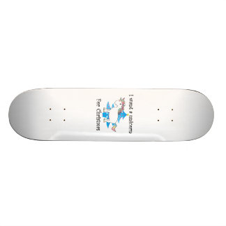 Funny unicorn christmas gift skate board decks