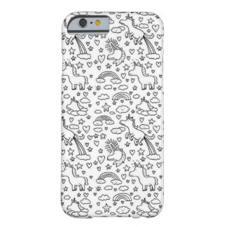 Funny Unicorn iPhone 6 case Barely There iPhone 6 Case