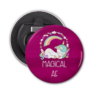Funny Unicorn Saying Magical AF Bottle Opener