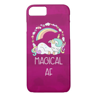 Funny Unicorn Saying Magical AF iPhone 8/7 Case