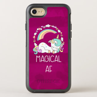 Funny Unicorn Saying Magical AF OtterBox Symmetry iPhone 8/7 Case