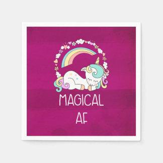 Funny Unicorn Saying Magical AF Paper Napkin