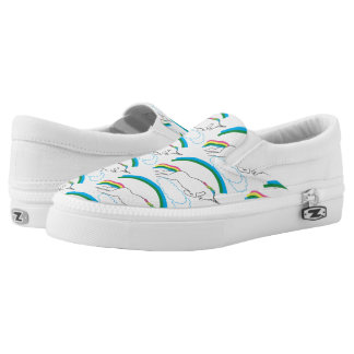 Funny Unicorn Slide on Tennis Shoes Printed Shoes