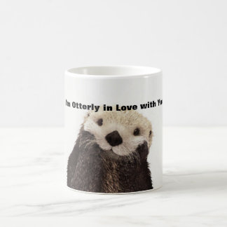 Funny Valentine Day Otter Coffee Mugs