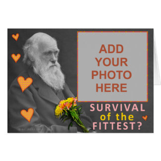 Funny Valentine's Day Charles Darwin Custom Photo Card
