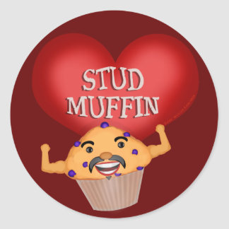 Funny Valentine's Day Muffin Sticker