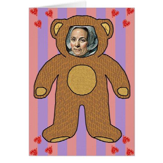 Funny Valentine's Day Teddy Photo Joke Card