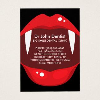 Funny vampire teeth dental, dentist business card