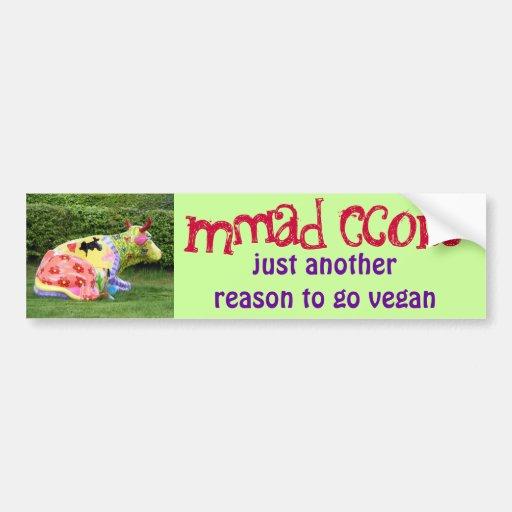 funny vegan bumper sticker car bumper sticker