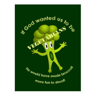Funny Vegetarian Quote Postcard