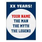 Funny very big oversized Birthday card for men