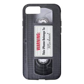 Funny VHS Tape with Custom Name Text iPhone 8/7 Case