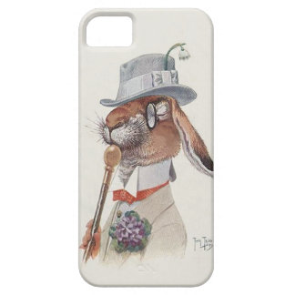 Funny Vintage Anthropomorphic Rabbit Barely There iPhone 5 Case