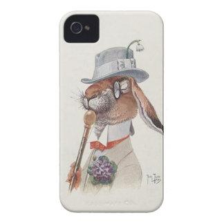 Funny Vintage Anthropomorphic Rabbit iPhone 4 Cases