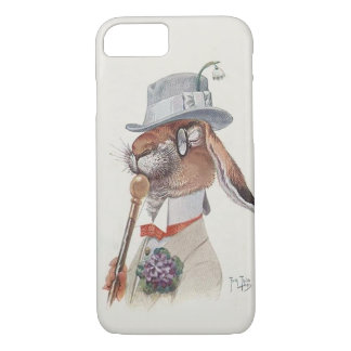 Funny Vintage Anthropomorphic Rabbit iPhone 7 Case