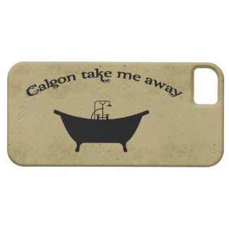 Funny vintage calgon take me away retro girly chic barely there iPhone 5 case