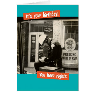 Funny Vintage Cop Birthday Rights Card