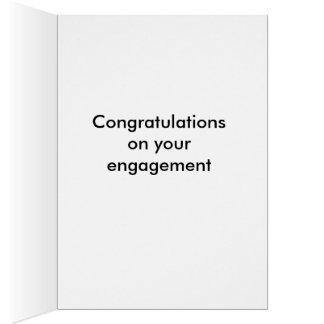 Funny vintage engagement card