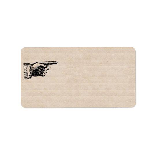 Funny Vintage Hand   Blank Address Address Label