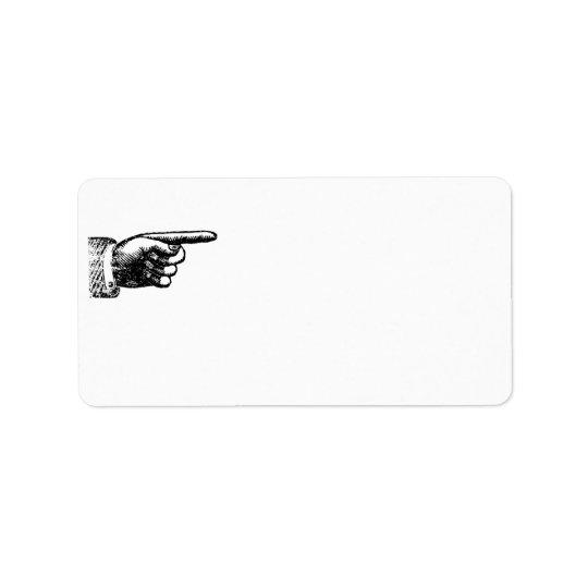 Funny Vintage Hand | Blank White Address Address Label