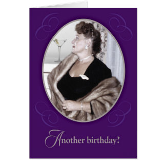 Funny Vintage Have A Martini Birthday Card
