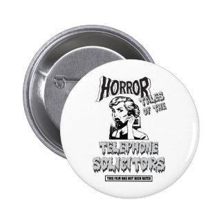 Funny Vintage Horror Movie 6 Cm Round Badge